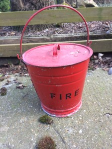 Vintage heavy duty fire bucket.