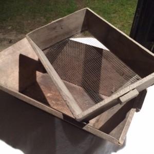 Dough trough and sieve