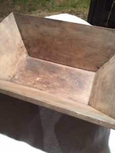 Wooden dough trough. Lovely patina and great condition.