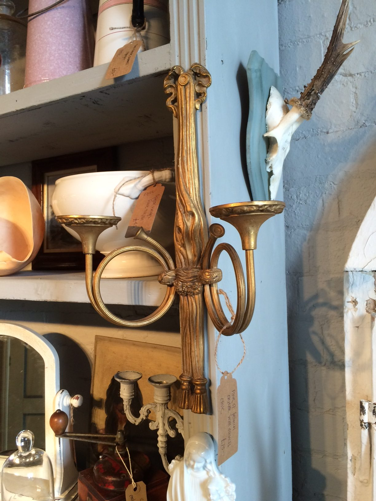 Lovely pair of French wall sconces